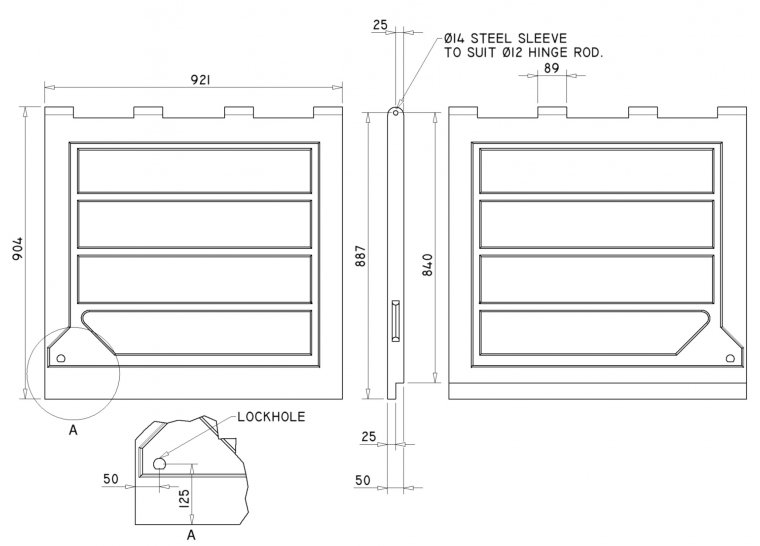 DR3635 Overlapping Doors Doors drawing