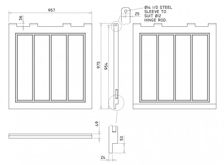 DR3838 Overlapping Doors Doors drawing