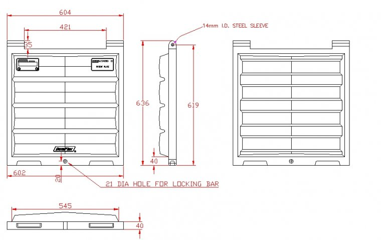 SC2425 Door / Lid for RELs & Skips Doors drawing