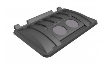 MS1700RM-ROS Recycling lid with rubber rosettes Trade Waste / 4 Wheeled Container Lids photo
