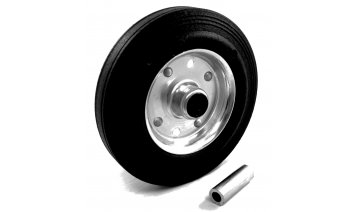 200mm Black Rubber Tyred Wheel Accessories & Spare Parts photo